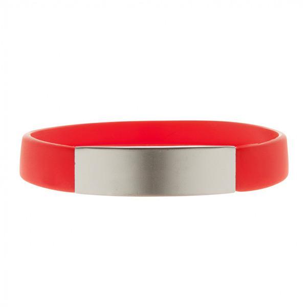 22c0c024e Silikonový náramek Unisex přetahovací červený
