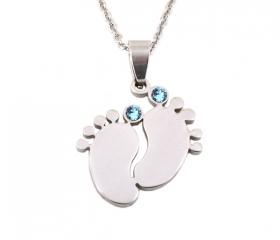 dárek s popisem  · Přívěsek Dětské nožičky Deluxe Swarovski krystaly modré  ... cb2714cc2e1